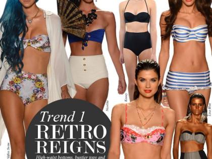 Тенденции моды 2013. Ретро купальники, стиль бохо-шик и цвета природы