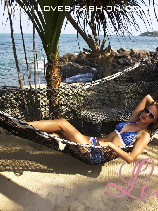 леопардовый купальник с юбкой