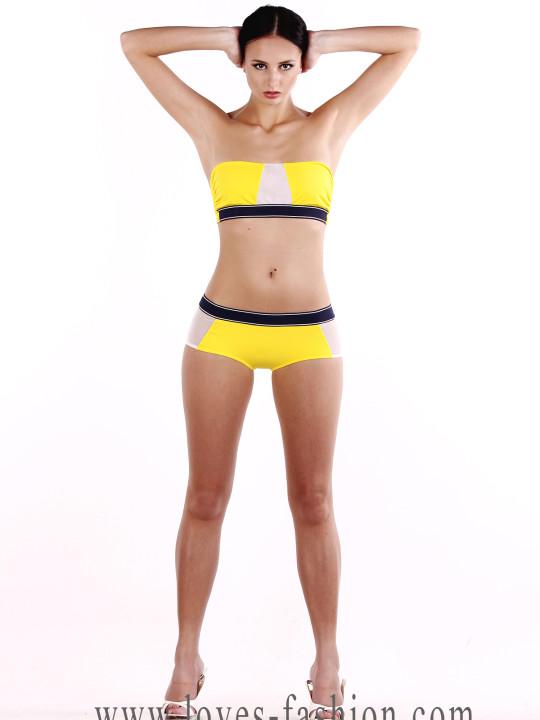 Спортивный купальник желтый купить