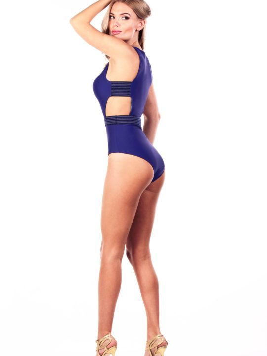 Сдельный купальник синий боди Lovesswimwear