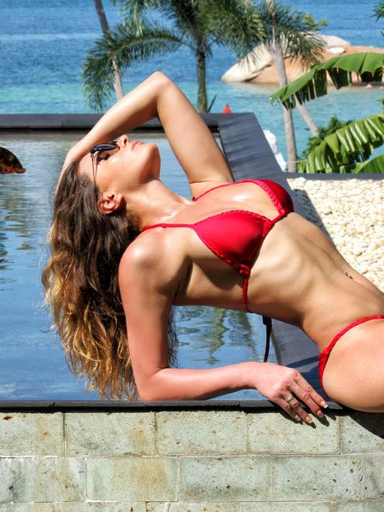 Яркий купальник бикини красного цвета Love's Киев купить